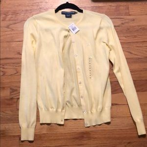 Light yellow Ralph Lauren cardigan. New!